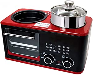 SLFPOASM Multi-Functional Breakfast Machine 4 in 1, Household Toaster, Toast Sandwich Maker, Toaster, Automatic Timing, Suitable for Steamed Eggs, Hot Pot, Cooking,Kitchen Multi-Cooker Mini Ovens