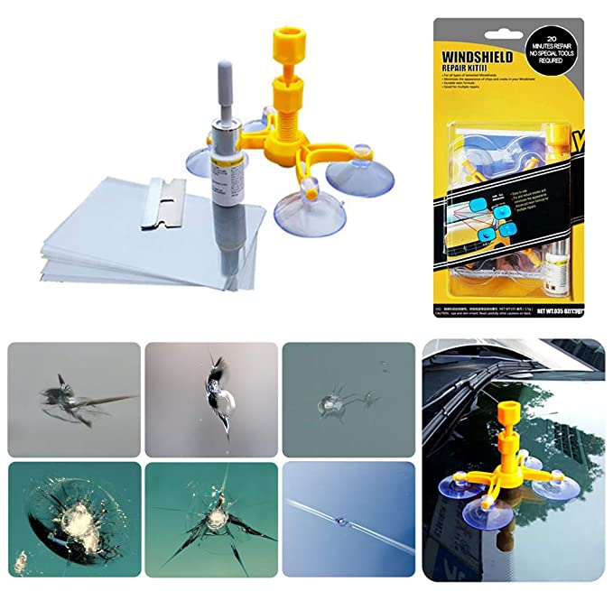 Kit de reparación de parabrisas, grietas de parabrisas para la fijación de cristales de parabrisas de grietas de parabrisas, grietas, ojo de buey, ...