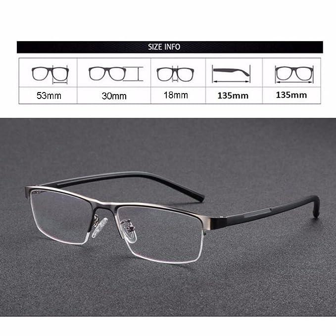 Übergang Photo Chromic Lesebrille Pocket Reader Metallrahmen mit Case weitsichtige UV400 Sonnenbrille + 1,0 bis + 4,0 (+1.00, grau)