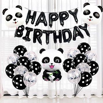 OoB Feliz Cumpleaños Panda Suministros para la Fiesta de ...