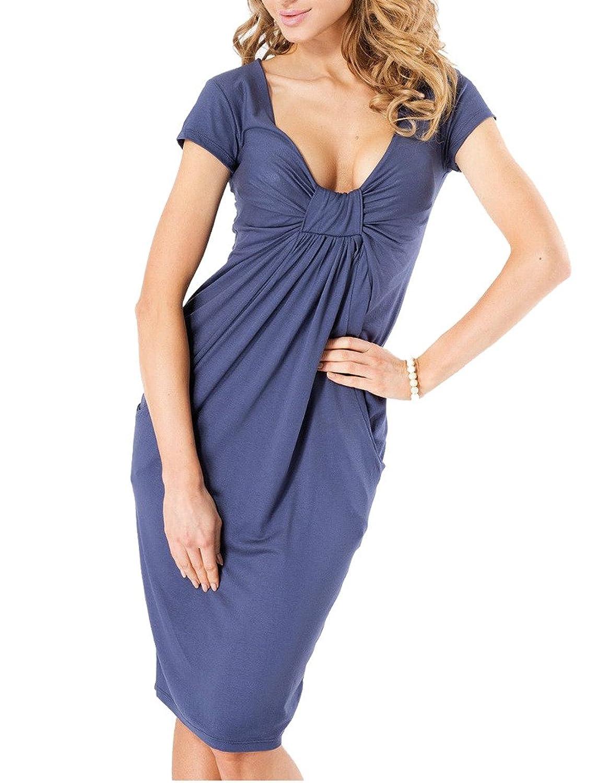 Damen Kleider Ausgestellter Schnitt Kleid Sommer Elegant Cocktailkleid Knielange Abenkleid Kleider