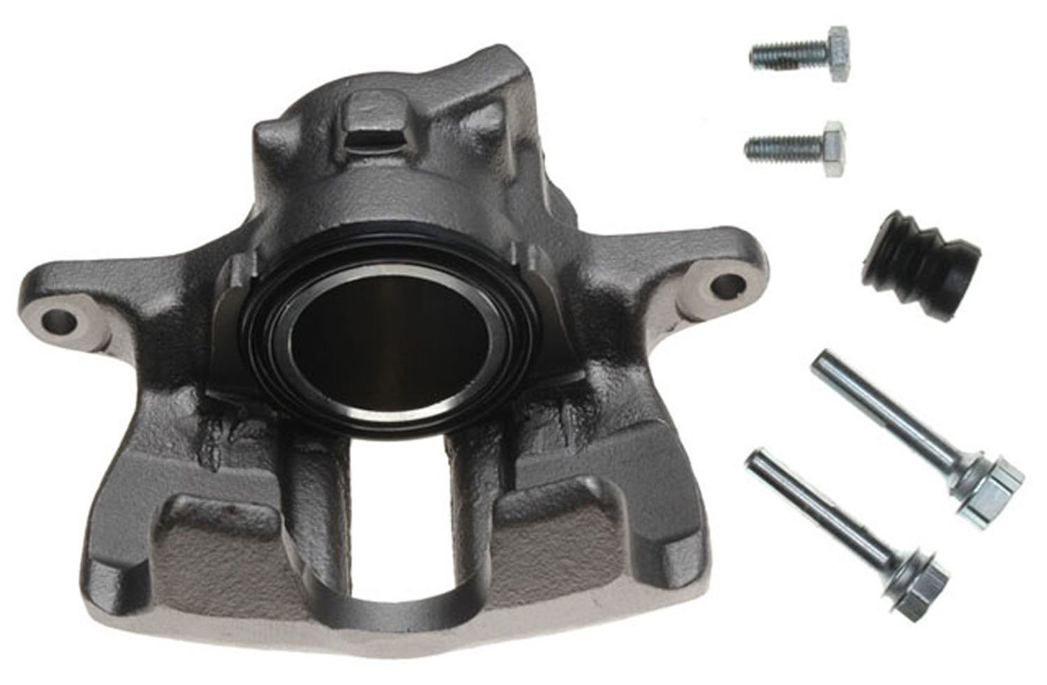 Friction Ready Non-Coated Remanufactured ACDelco 18FR516 Professional Front Disc Brake Caliper Assembly without Pads