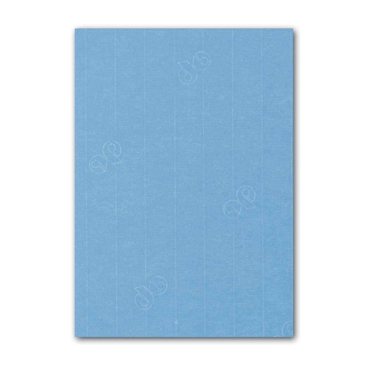 ARTOZ 150x Briefpapier + Bastelpapier Bastelkarton - Taupe - DIN A4 297 x 210 mm – Edle Egoutteur-Rippung – Hochwertiges 220 g m² Tonpapier – Scrapbooking Papier 415 - Marienblau 100 Stück