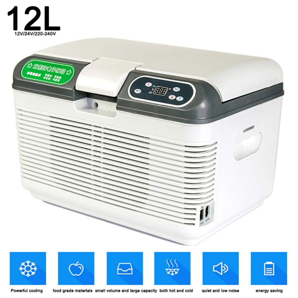 Interior Accessories 22L Thermoelectric Cool Box 12V 110V 24V Truck Car Cooler Mini Fridge Compact Car Refrigerator Portable Freezer for Long Distance Driving Journeys and Camping