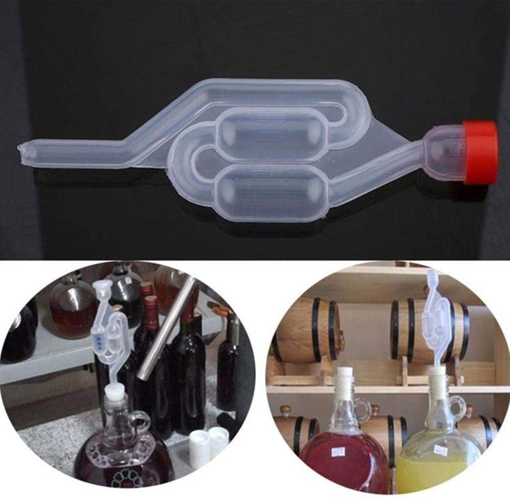 Home Brew Airlock One Way Beer Wine Fermentation Highly Transparent Plastic Air Lock by Holo Cute
