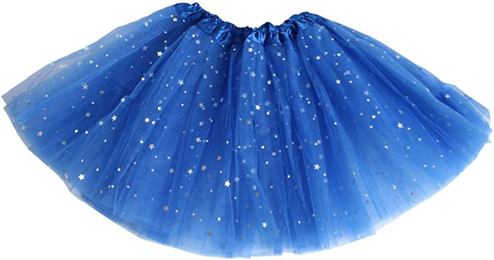 2 Pieces Rainbow Tutu Skirt Sequin Layered Tulle Princess Ballet Skirt with 2 Pieces Large Hair Bow Clips Colorful Hair Barrettes Butterfly Rainbow Hair Pins for 2-6 Years Old Girls