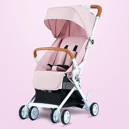 Cochecito de bebé sentado Horizontal plegable portátil paraguas de choque Ultra ligero plegable con una sola