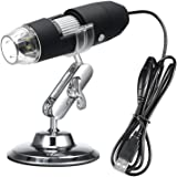 Walmeck USB Digital Zoom Microscope Magnifier with OTG Function Endoscope 8-LED Light Magnifying Glass 1000X Magnification with Stand