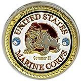 United States Marine Corps Gold Poker Card Guard
