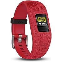 Garmin Vivofit Junior 2 - Lado Oscuro 010-01909-1B - Pulsera de Actividad para Niños, Ajustable, Color Rojo, Talla Única