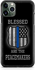 Police Badge Thin Blue Line Blessed Cop Slim Shockproof Hard Rubber Custom Case Cover for iPhone 7 Plus / 8 Plus