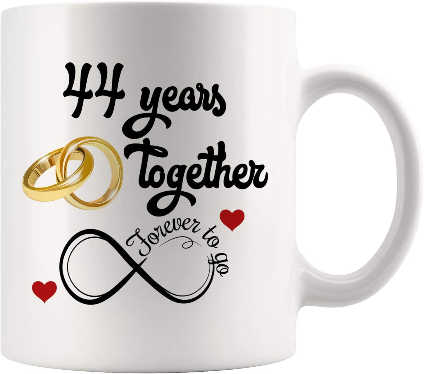 Amazon Com 44th Wedding Anniversary For Him And Her 44th Anniversarys For Her Him 44th Anniversary Mug For Husband Wife 44 Years Together Married 44 Years 44 Years Couple 11 Oz Kitchen Dining