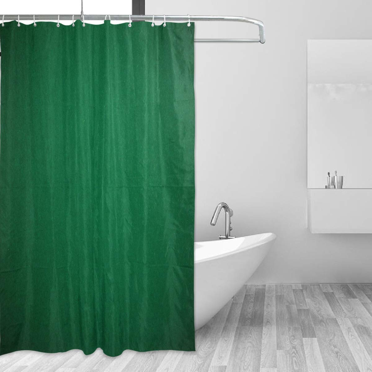 Hunter Green Shower CurtainDigitally Created Plain Surface Vegas Color Holdem Artful Picture PrintFabric Bathroom Decor Set With Hooks60 By 72 Inches