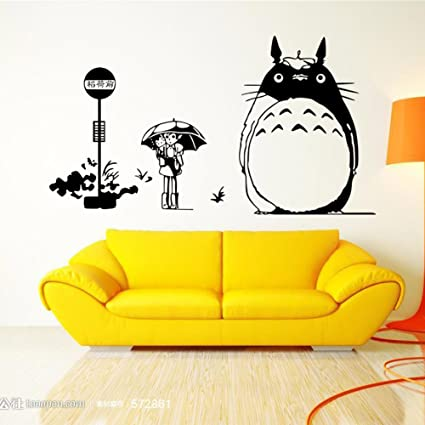 Amazon.com: Fangeplus TM DIY Removable My Neighbor Totoro Art Mural ...