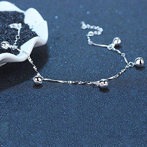 Emorias 1/pcs Creative Bell Cheville Femme Bijoux en argent cha/îne de pied Femme Cheville pour femmes filles /él/égant Charmant Bijoux Fantaisie Accessoires