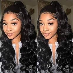 7e0bd74ec Beauty Forever Wigs Brazilian Virgin Body Wave 13x6 Lace Front Wig 100% Human  Hair Wig