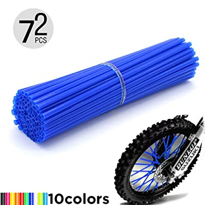 "Motorcycle Spoke Skins, 72pcs/lot 17cm Universal Colorful Motocross Dirt Bike Spoke Covers for 8""-21"" Rims Kawasaki KX KL-XF KLR KL R-Z400S SM RM2 F750GS Honda CRF XL XLR XR KTM Yamaha XT250-600 WRF: Automotive"