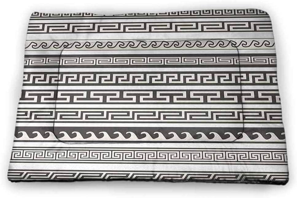 Nomorer Pet Food Mat Abstract Waterproof and Urine-Proof Traditional Tartan Pattern British Clan Royal Vintage Heraldry Design Beige Dark Taupe Maroon