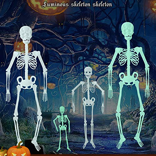 Clearance Sale!DEESEE(TM)30cm/90CM Luminous Skull Skeleton Body Scary Halloween Toy Haunted House Tricky Prop Halloween Toy For Halloween (90cm) ()