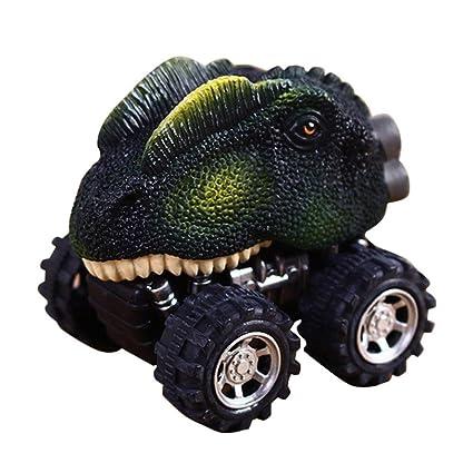 Y56 Tirador de espalda para coches, dinosaurio, juguete para coches simulado con cabeza de dragón de Dino con rueda ...