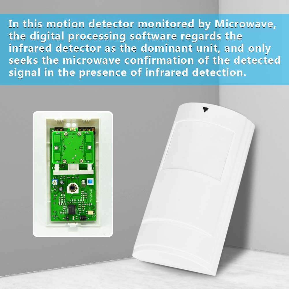 Sensor de Movimiento Digital, Sensor de Movimiento de microondas por Infrarrojos con Cable para Interior, Alarma Digital Inteligente PA-525D: Amazon.es: ...