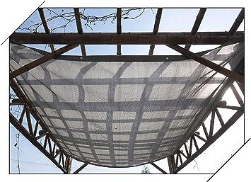 Balcone Esterno con Protezione Solare da 90/% Size : 1mx1m Rete ombreggiante Tenda da Sole A Vela Rettangolare con Tendalino Grigia con Passacavi