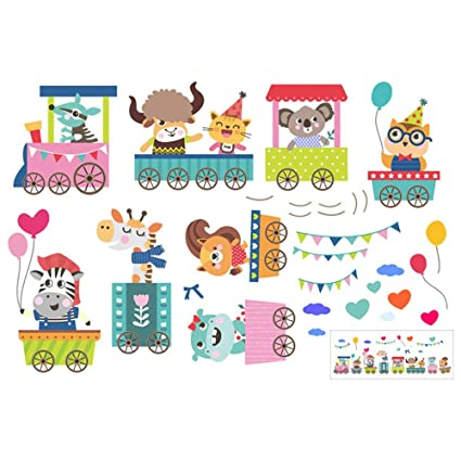 Guluded Cartoon Animal Wall Sticker Wall Decal Home Decor Wall Poster Paper Murals Decal Removable Car