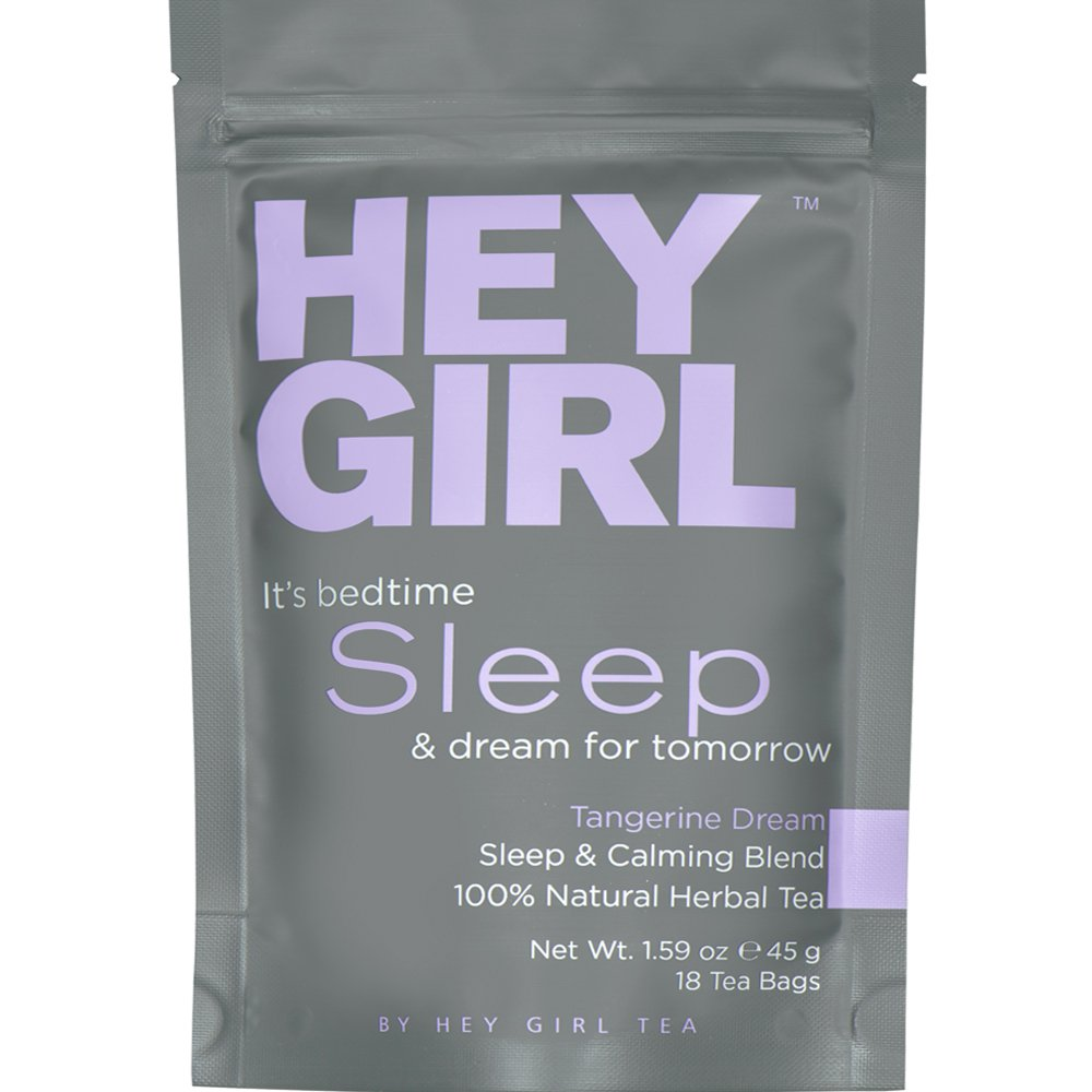 Bedtime Tea for Stress and Anxiety Relief - Herbal Sleep Aid Remedy to Relax & Get Restful Sleep at Night | with Valerian Root Extract, Chamomile and Lemon Balm by Hey Girl Tea