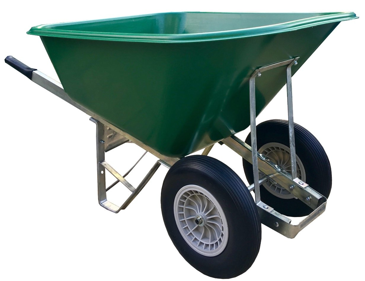 Wheelbarrow 200l Green Puncture-Proof wheels Wheelbarrow - Delivered Fully Assembled Wheelbarrows Direct Ltd.