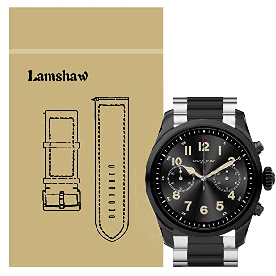 Lamshaw Quick Release Smartwatch Band for Montblanc Summit 2, Stainless Steel Metal Replacement Straps for Montblanc Summit 2 Smartwatch ...