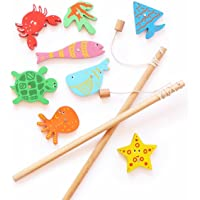 Shumee Wooden Magnetic Fishing Rods (4 Years+) - Curiosity & Fine Motor Skills