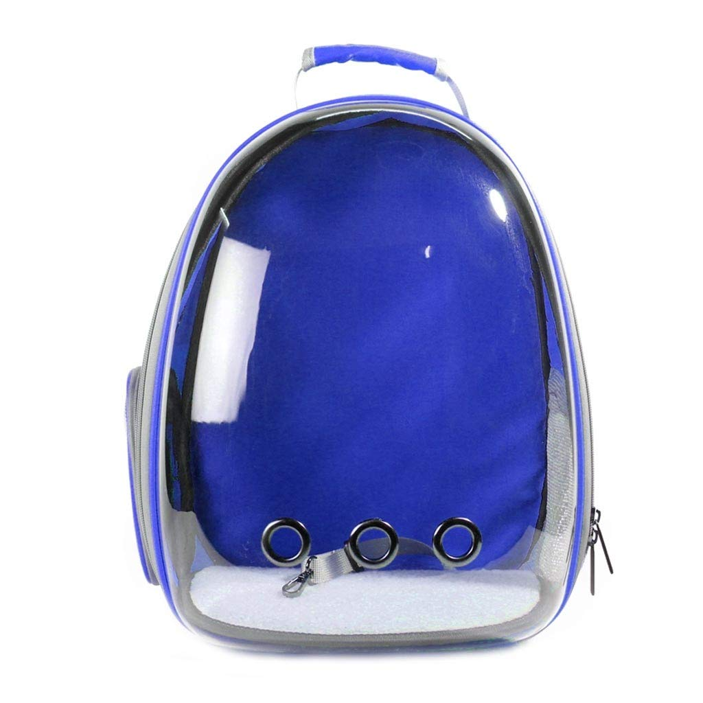 bluee Pet backpack Pet Bag Portable Pet Backpack Pet Cat Cage Cat Dog Travel Backpack Travel Hiking Camping Size 29  27  42cm (color   Green)