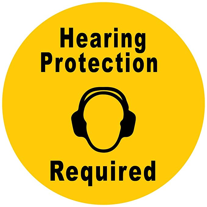 Amazon Hearing Protection Required Yellow Black Anti Slip