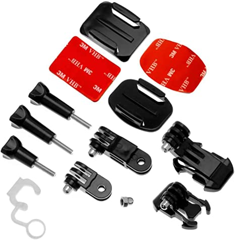 OcioDual Pegatina Soporte Casco Bici Moto Camara Accesorios para GoPro Hero 8 7 6 5 4 3 HD Black SJCAM 4000 Xiaomi Yi 4K Set Kit: Amazon.es: Deportes y aire libre