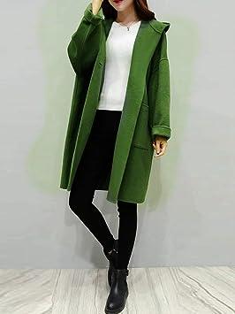 TJOIREJ Abrigos De Mujer Capa Larga Mujeres Abrigo A Cuadros Invierno Cálido Outwear Casual Verde Suelta Más El Tamaño De Abrigo Largo Otoño: Amazon.es: ...