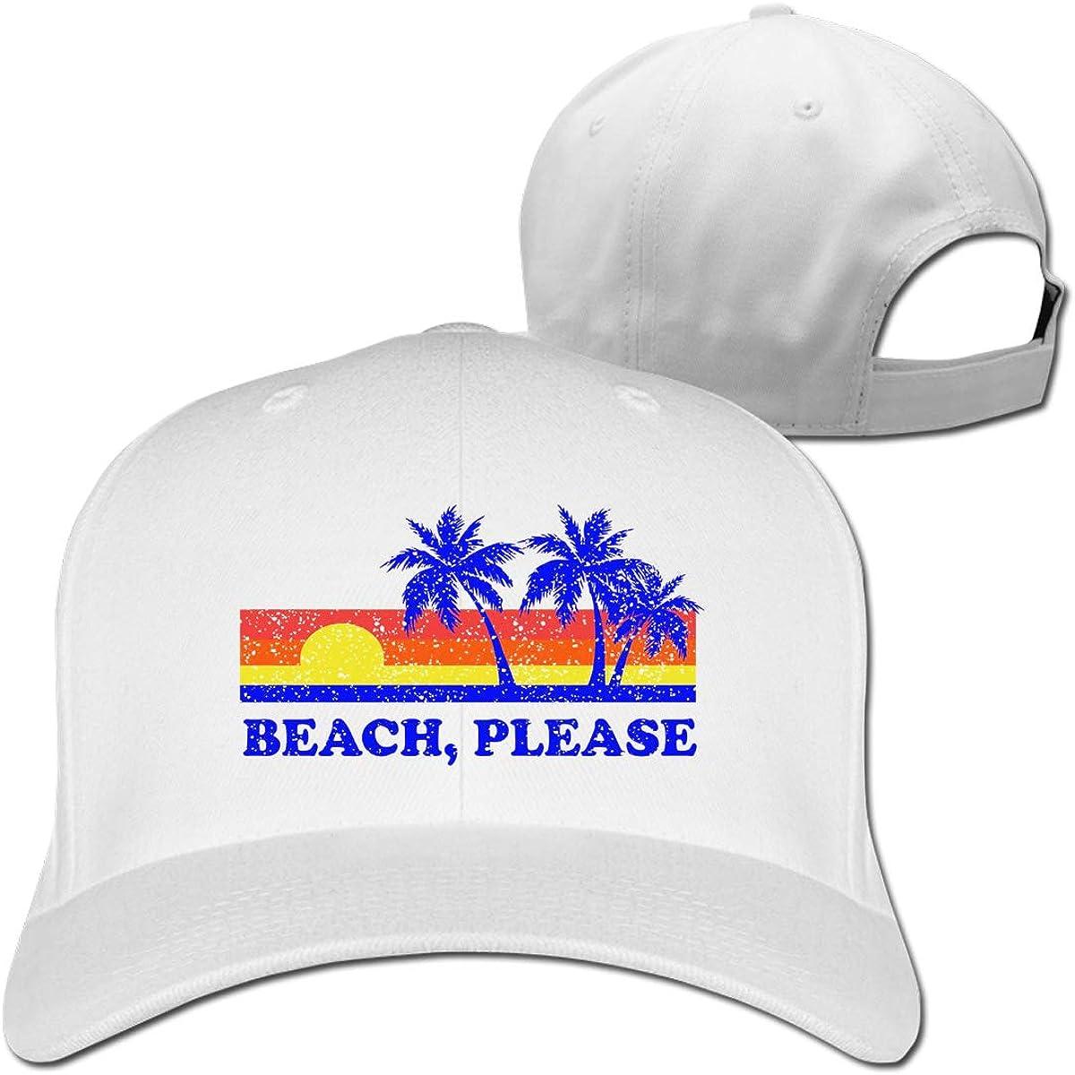 Beach Please 100/% Cotton Baseball Caps Adjustable Dad Trucker Sun Hat Outdoor Custom Cap for Men Women