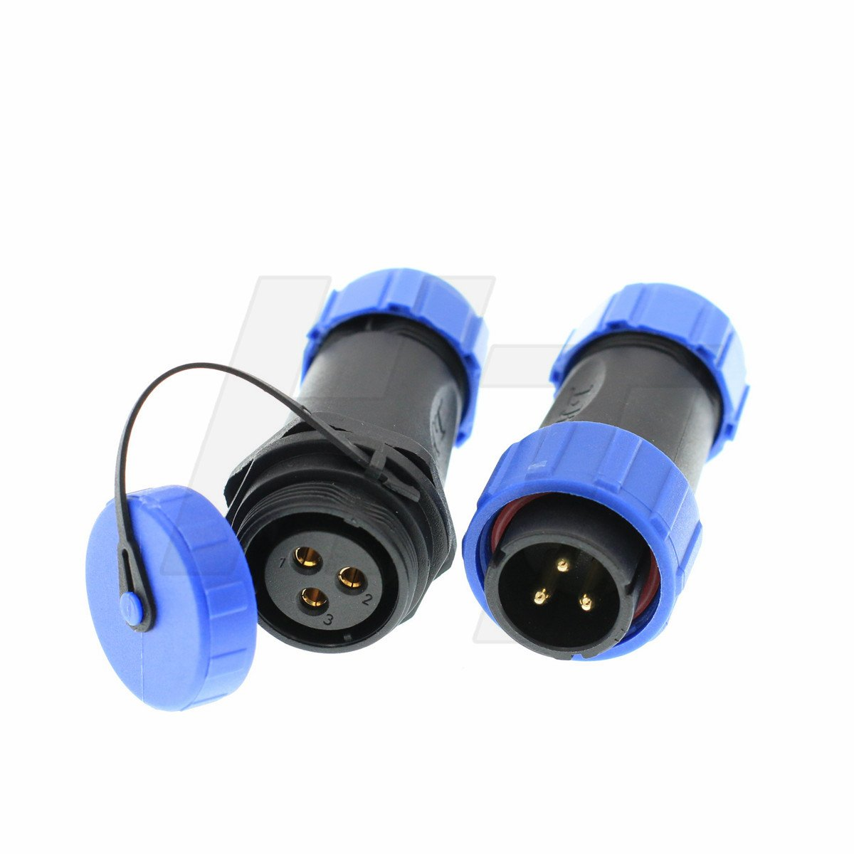 HangTon HE21 3 Pin Waterproof Aviation Quick Disconnect LED/Marine/Lighting Equipment Connector Cable Plug & Socket