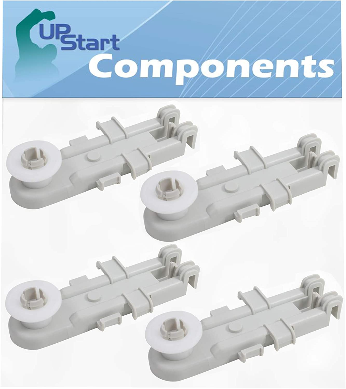 4-Pack 8268655 Dishwasher Upper Rack Wheel Replacement for Whirlpool DU1055XTSS2 - Compatible with 8268655 Wheel Kit