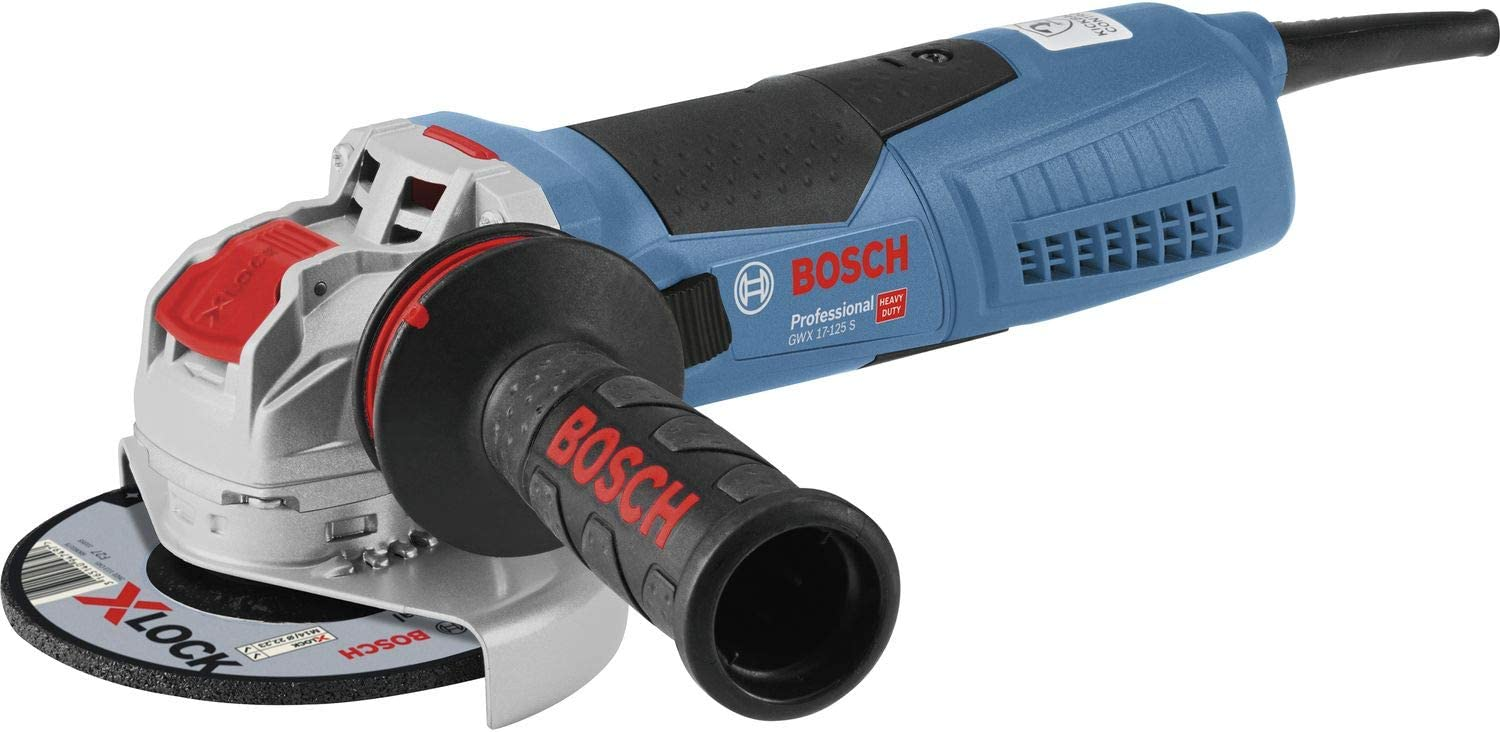 Bosch Professional GWX 17-125 S - Amoladora angular (1700 W, X-LOCK, Ø disco 125 mm, velocidad variable, en caja)
