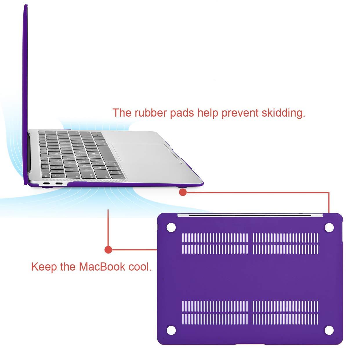 MOSISO H/ülle Kompatibel MacBook Air 13 2019 2018 Freisetzung A1932 mit Retina Display Plastik Hartschale Case Cover Nur Kompatibel Neueste MacBook Air 13 Zoll mit Touch ID K/önigsblau