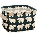 Demarkt Fashion Storage Box Fabric Storage Cubes For Organize Cosmetic Toys Mini Square Storage Bins