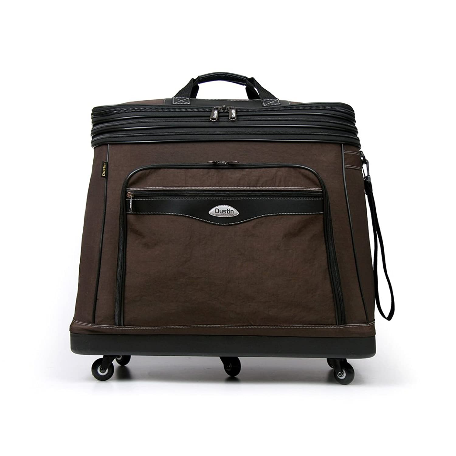 Amazon.com | Dustin Upward Expandable Wheeled Bags Luggage Dr-100 One-Size Brown | Travel Duffels