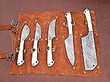 Christmas Gift Offer By ColdLand | Custom Handmade Damascus Steel Splendid Kitchen Set Knives Lot of 5 KSLOT2
