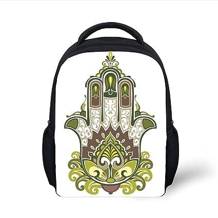 7a0077d52135 Amazon.com  iPrint Kids School Backpack Hamsa