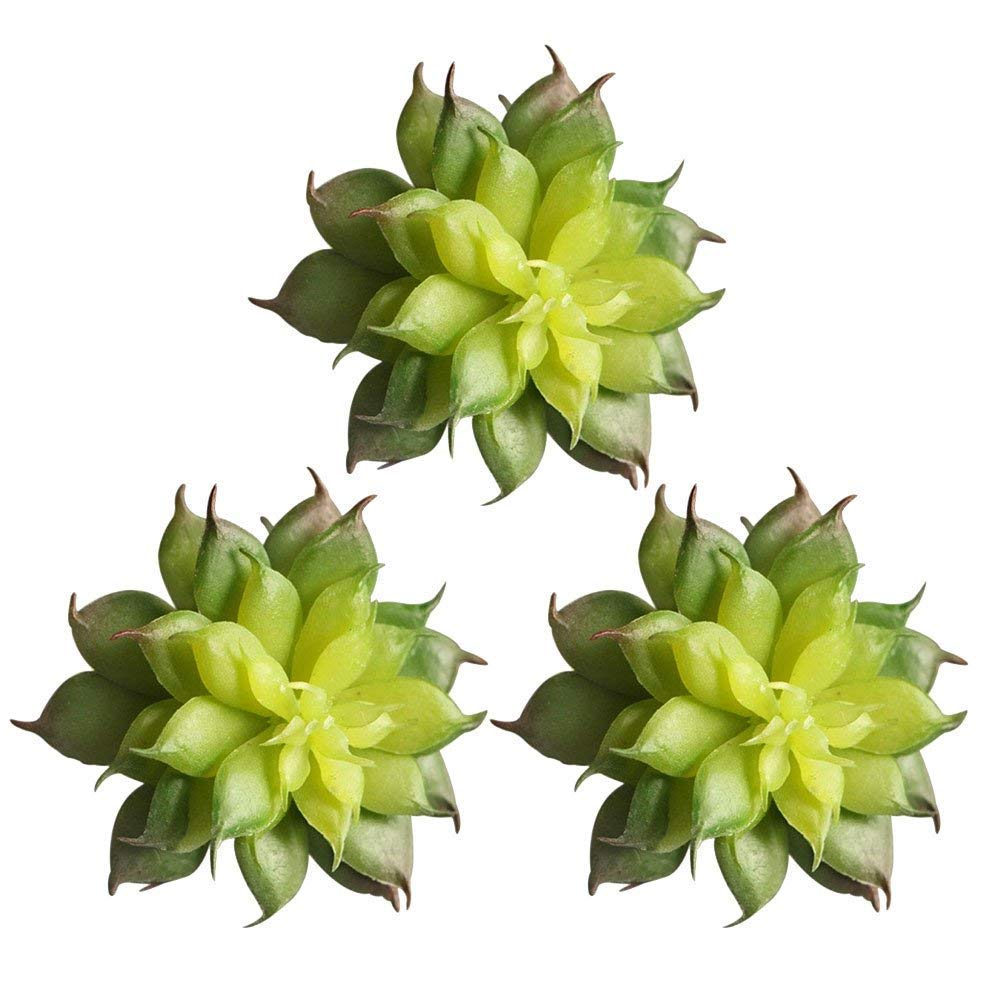 Maylife Land Lotus Rare Plant Artificial Plants Artificial DIY Wreath Craft Unpotted 3Pcs 2.72.1 inch for Garden Succulent Grass Desert Landscape Garden Cute Decoration