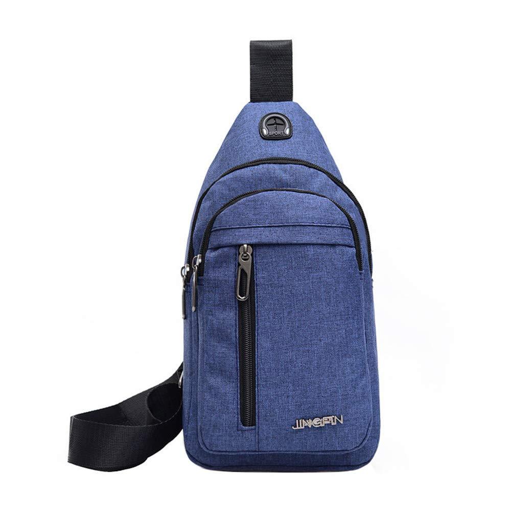 Men Messenger Bag Canvas Shoulder Bags Backpack - WEUIE Fashion Mens Rucksack Multi Pockets Cross Body Bag by WEUIE (Image #1)