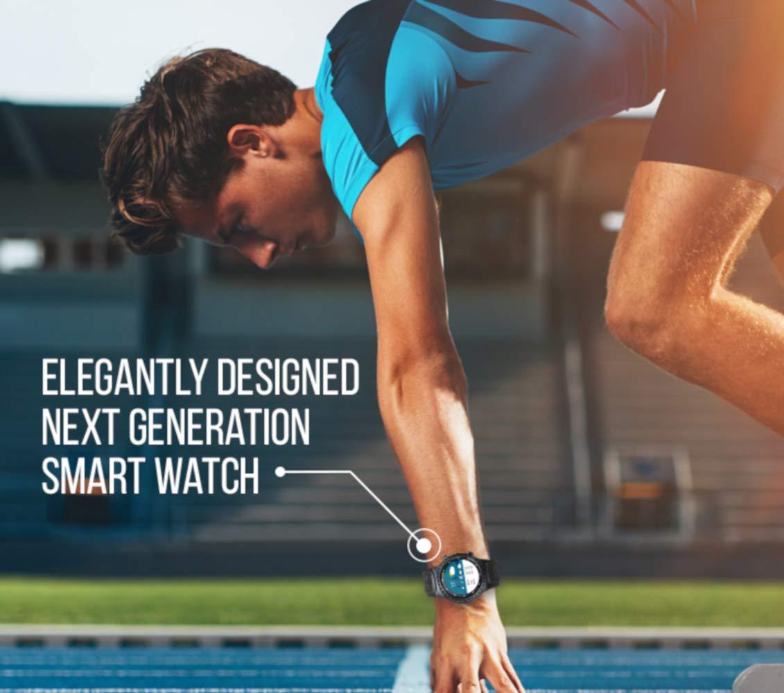 PRIXTON - Reloj Inteligente Hombre/Mujer-Reloj Smartwatch Hombre/Mujer: GPS, SIM, Pulsómetro   SW36
