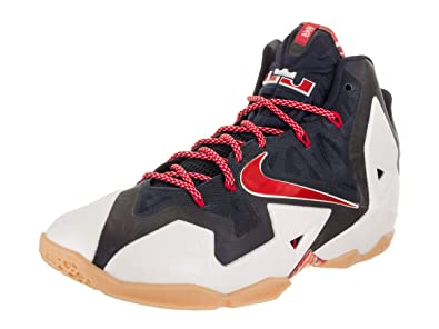 timeless design 82014 fee4e NIKE Lebron XI Men s Basketball Shoes 616175-164 White University  Red-Obsedian-Pure