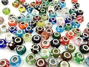 amazon com adored 50pcs lot silver lwork murano glass
