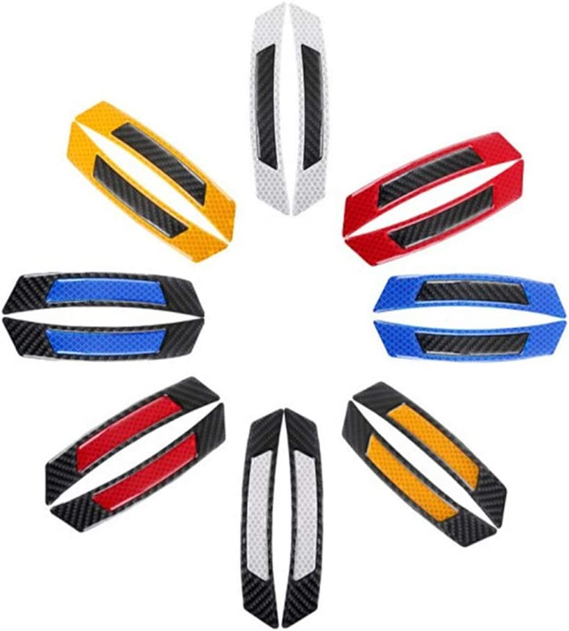 Honeycomb Reflective Tape Stickers for Truck Auto Edge Wheel Eyebrow Protector Guards Accessories 4 Trailer Reflector Car Reflective Self Adhesive Safety Warning Conspicuity Tape White Black
